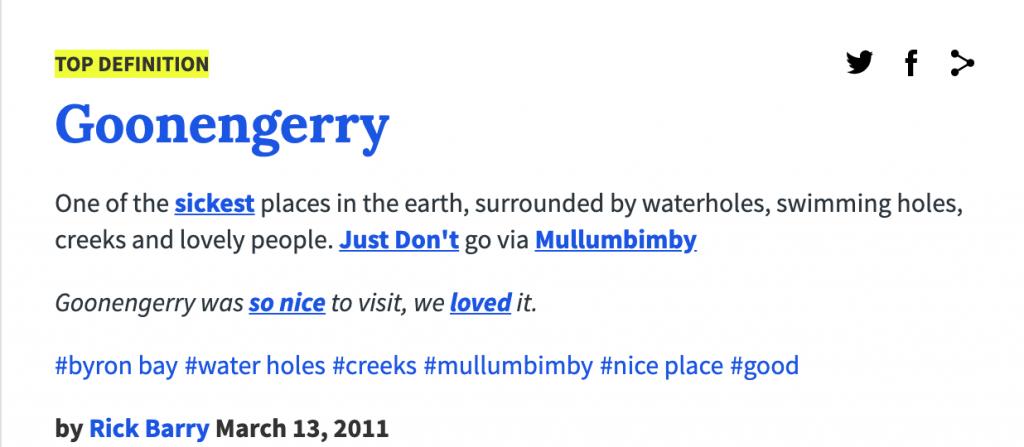 goonengerry urban dictionary