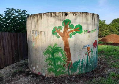 The old concrete water tank