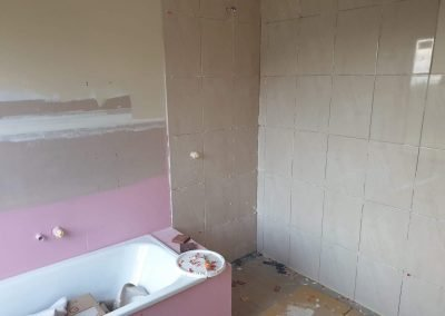 Dec 9 - Wall tiling starts